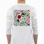 Color Ball White Long Sleeve T-Shirts Back
