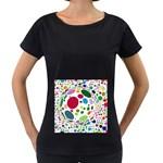 Color Ball Women s Loose-Fit T-Shirt (Black)