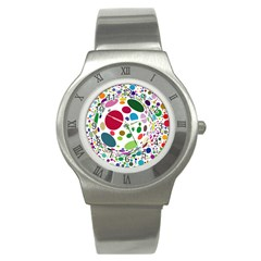 Color Ball Stainless Steel Watch by Mariart