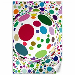 Color Ball Canvas 12  X 18   by Mariart