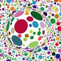 Color Ball Canvas 20  X 20   by Mariart