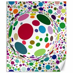 Color Ball Canvas 20  X 24   by Mariart