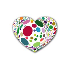 Color Ball Heart Coaster (4 Pack)