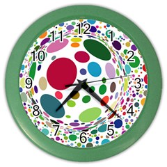 Color Ball Color Wall Clocks by Mariart