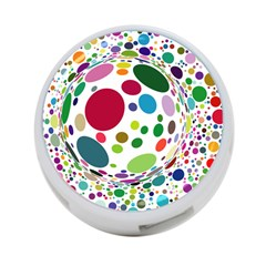 Color Ball 4 Port Usb Hub (one Side) by Mariart