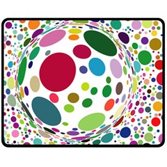Color Ball Fleece Blanket (medium)  by Mariart