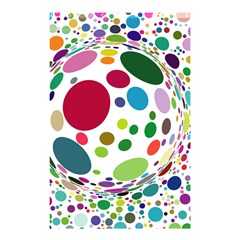 Color Ball Shower Curtain 48  X 72  (small)