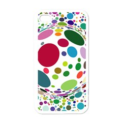 Color Ball Apple Iphone 4 Case (white)