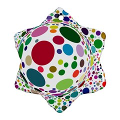 Color Ball Ornament (snowflake)