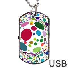 Color Ball Dog Tag Usb Flash (one Side) by Mariart