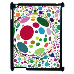 Color Ball Apple Ipad 2 Case (black)
