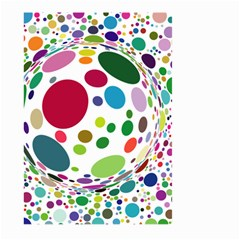 Color Ball Large Garden Flag (two Sides) by Mariart