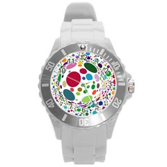 Color Ball Round Plastic Sport Watch (l) by Mariart