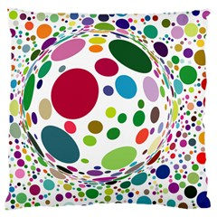 Color Ball Large Cushion Case (one Side)