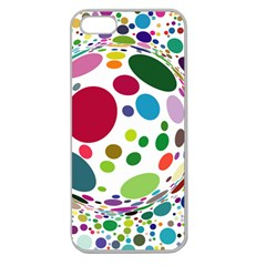 Color Ball Apple Seamless Iphone 5 Case (clear)