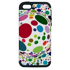 Color Ball Apple Iphone 5 Hardshell Case (pc+silicone)