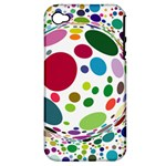 Color Ball Apple iPhone 4/4S Hardshell Case (PC+Silicone)