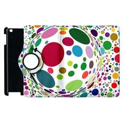 Color Ball Apple Ipad 3/4 Flip 360 Case