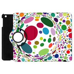 Color Ball Apple Ipad Mini Flip 360 Case