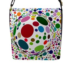 Color Ball Flap Messenger Bag (l)