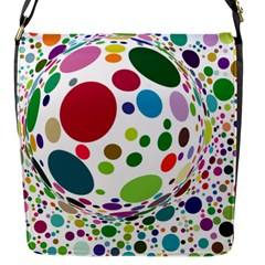 Color Ball Flap Messenger Bag (s)