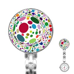 Color Ball Stainless Steel Nurses Watch