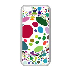 Color Ball Apple Iphone 5c Seamless Case (white) by Mariart