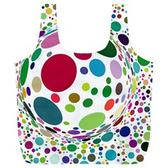 Color Ball Full Print Recycle Bags (l)  by Mariart