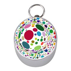 Color Ball Mini Silver Compasses by Mariart
