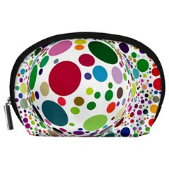 Color Ball Accessory Pouches (large)  by Mariart