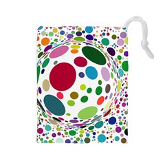 Color Ball Drawstring Pouches (large)  by Mariart