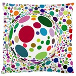 Color Ball Standard Flano Cushion Case (One Side)