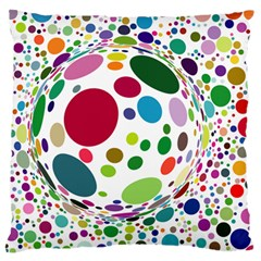 Color Ball Large Flano Cushion Case (one Side)