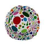 Color Ball Standard 15  Premium Flano Round Cushions
