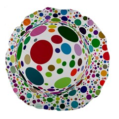 Color Ball Large 18  Premium Flano Round Cushions by Mariart