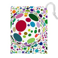 Color Ball Drawstring Pouches (xxl) by Mariart