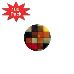 Background With Color Layered Tiling 1  Mini Magnets (100 Pack)  by Simbadda