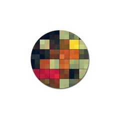Background With Color Layered Tiling Golf Ball Marker by Simbadda