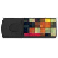 Background With Color Layered Tiling Usb Flash Drive Rectangular (4 Gb) by Simbadda
