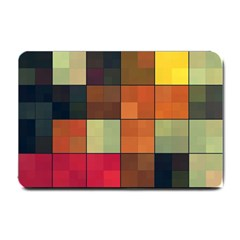 Background With Color Layered Tiling Small Doormat  by Simbadda
