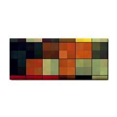 Background With Color Layered Tiling Cosmetic Storage Cases by Simbadda