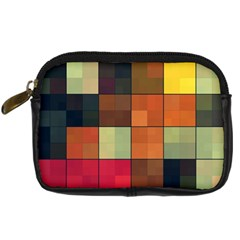 Background With Color Layered Tiling Digital Camera Cases by Simbadda