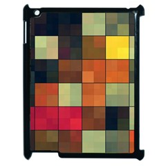 Background With Color Layered Tiling Apple Ipad 2 Case (black) by Simbadda