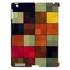 Background With Color Layered Tiling Apple Ipad 3/4 Hardshell Case (compatible With Smart Cover) by Simbadda