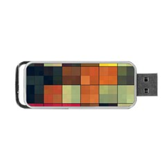 Background With Color Layered Tiling Portable Usb Flash (one Side) by Simbadda