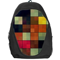 Background With Color Layered Tiling Backpack Bag by Simbadda