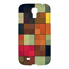 Background With Color Layered Tiling Samsung Galaxy S4 I9500/i9505 Hardshell Case by Simbadda