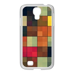 Background With Color Layered Tiling Samsung Galaxy S4 I9500/ I9505 Case (white) by Simbadda