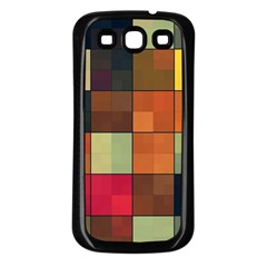 Background With Color Layered Tiling Samsung Galaxy S3 Back Case (black) by Simbadda