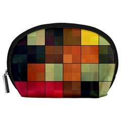 Background With Color Layered Tiling Accessory Pouches (large)  by Simbadda